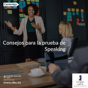 La prueba de speaking