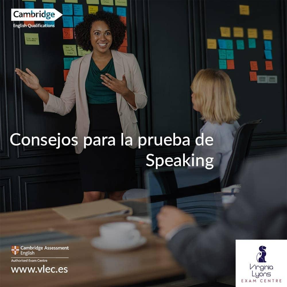 Consejos para la prueba de Speaking