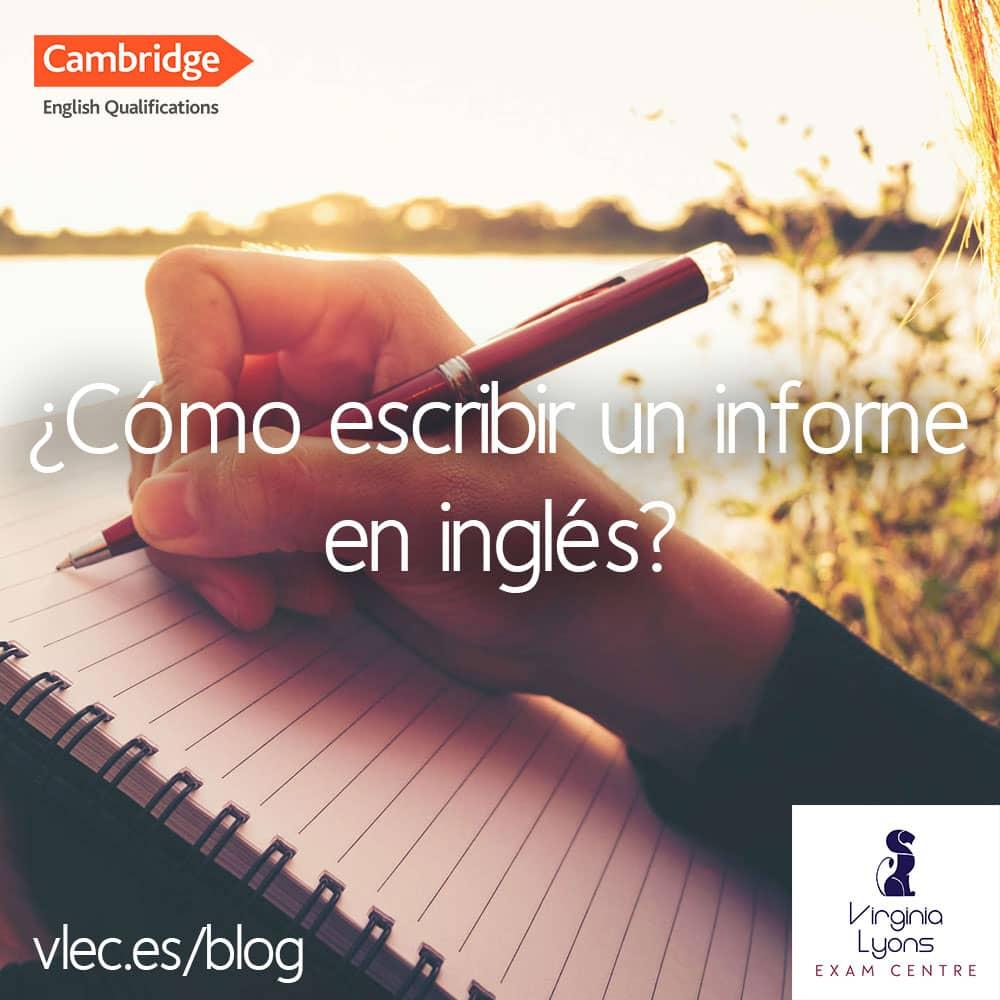 ¿Cómo escribir un informe en inglés?