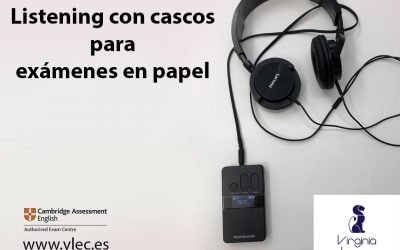 Listening con cascos para exámenes Cambridge en papel