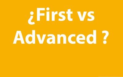 ¿First o Advanced?